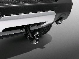 Заглушка бампера для электрического фаркопа, Techno silver