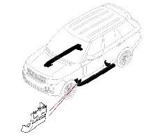 Комплект молдингов крыла для выезжающих подножек Range Rover