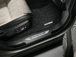 Накладки на передние пороги с подсветкой Range Rover Velar