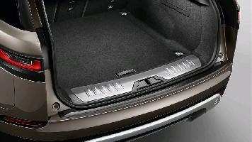 Накладка порога багажника с подсветкой, нержавеющая сталь (ам с докаткой) Range Rover Velar