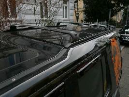 Направляющие на крышу малые, черные