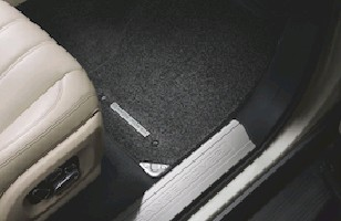 Комплект текстильных ковров салона Premium Ebony, удлиненная база